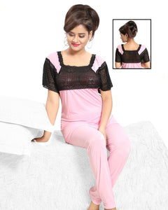 Silk Pajamas for Women Comfy Two Piece Set Ladies Nightdress