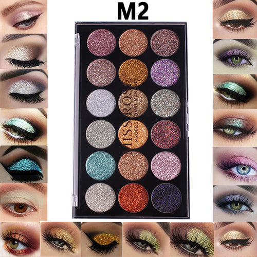 MISS ROSE 18-color sequin glitter eyeshadow Palette