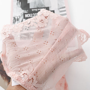 Packs of Lace Breathable Mid Waist Panties