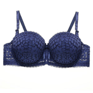 Floral Lace Padded Push-up Bra For Women's