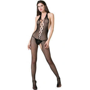 Women Halter Neck Skin Tight Body Stocking
