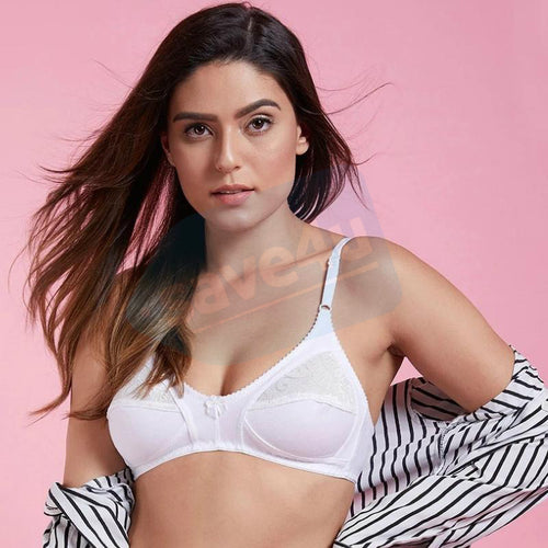 Cotton Full Cup Lacy Bra For Women