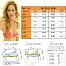 Load image into Gallery viewer, Women's Lace Underwire Bra Plunge Foam Cups
