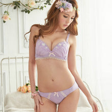 Load image into Gallery viewer, Super Cute Bra Set Floral Bra with Brief Panty
