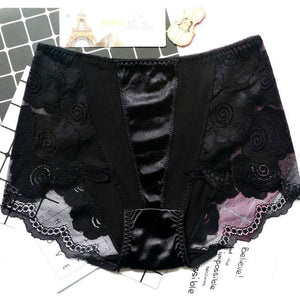 Pack of 2 Lace and Satin Floral Panties For Women