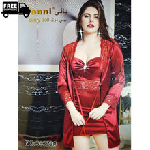 Load image into Gallery viewer, Luxury Silk Nighty Lingerie  Ladies Nightdress
