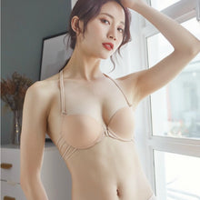 Load image into Gallery viewer, Front Closure Bra , front open bra , front closure seamless bra , new style bra , fancy bar , without hook bra , padded front open bra , underwire front closure bra , halter shape bra