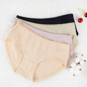 Pack of Soft Cotton Lining Design Brief Panties