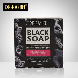 DR RASHEL Collagen & Charcoal Black Soap