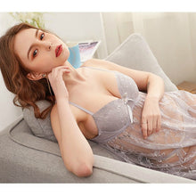 Load image into Gallery viewer, See Through Floral Design Soft Net Short Nighty