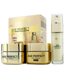 Load image into Gallery viewer, loreal paris age perfect cell renew programme , age perfect cell renew night cream , age perfect cell renew day cream , age perfect cell renew eye serum , skin care product , loreal paris skin care ,