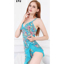 Load image into Gallery viewer, Floral Print Summer Nightwear With Panty For Women