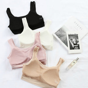 Pack of 3 Women Crop Tops Blouse Top Vest Bra