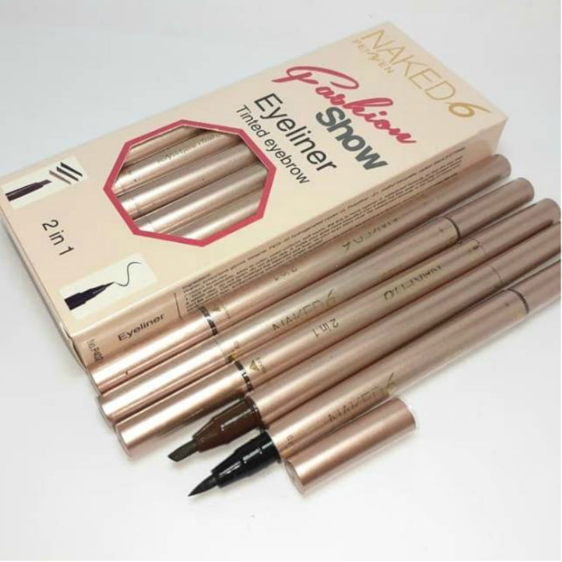 Naked 6 Eyeliner Tinted Eyebrow 2 In 1