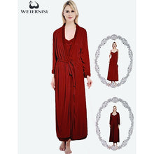 Load image into Gallery viewer, Women's Winters Fleece Warm Solid Bathrobe