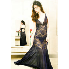 Load image into Gallery viewer, Long Exotic Lingerie Sleeveless Deep V-Neck Nightwear