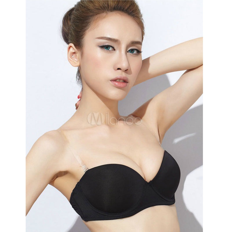 Nylon Thin Padded Wired Demi Cup Bra