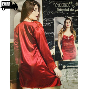 Luxury Silk Nighty Lingerie  Ladies Nightdress