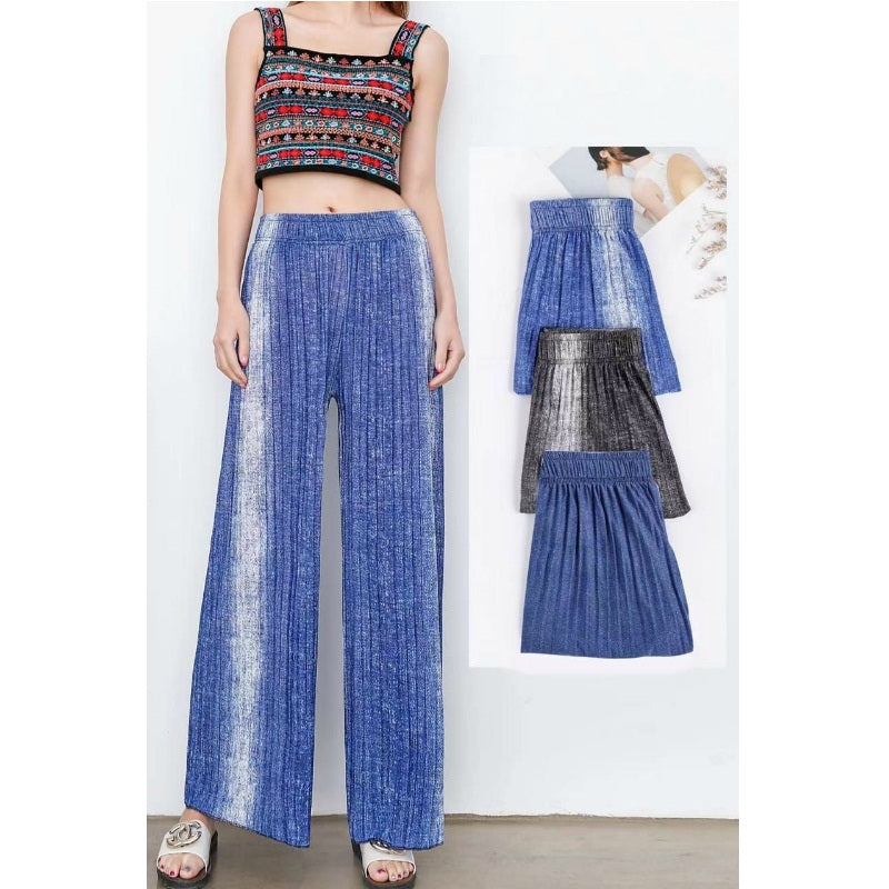 Full Length Wide Leg Pleated Culotte Trouser