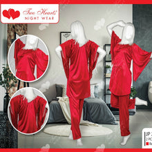 Load image into Gallery viewer, Two Piece Full Length Satin Silk Pajama Set For Ladies