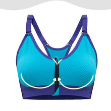 Load image into Gallery viewer, Removable Padded Front Zipper Closure Sports Bra