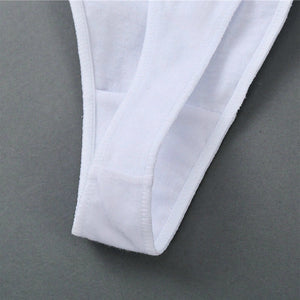Pack of Low Rise Cotton Thong Panties White