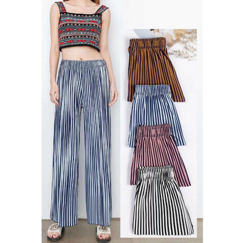 Trousers High Waist Chiffon Pleated Pants