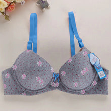 Load image into Gallery viewer, Floral Print Seamless T-Shirt Push Up Bra for Girls