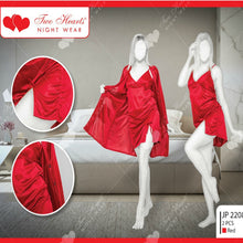 Load image into Gallery viewer, Two Piece Women's Satin Silk Nightdress Sleepwear Lounge wear For Ladies