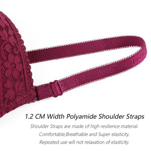 Lace Push Up Underwired Padded Bra For Ladies