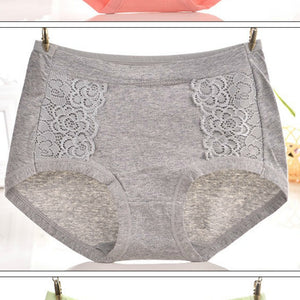 Packs of Lace Trim Full Coverage Brief Panties