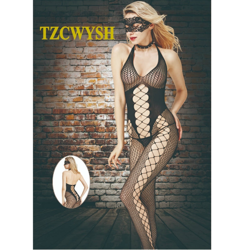 Sexy Lingerie Neck Fishnet Bodysuit For Women