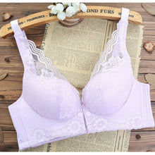 Load image into Gallery viewer, Womens Nursing Bra Front Button Thin Cup Net Bra