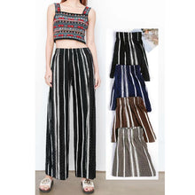 Load image into Gallery viewer, High Waist Wide Leg Chiffon Pleated Pants