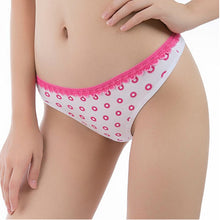 Load image into Gallery viewer, Pack of Cotton Thong Lace Trim Panties For Women