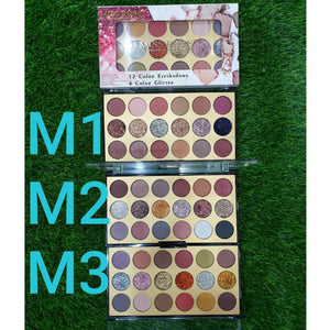 Miss Rose 18 Shades Matte and Shimmer Eyeshadow Palette