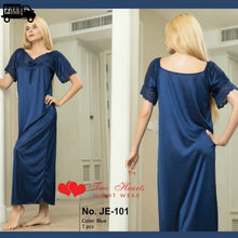 Load image into Gallery viewer, Silk full length Gown Nightwear and Loungewear