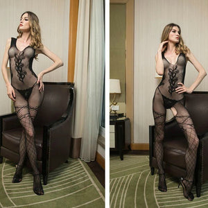 Fishnet Bodystocking for Womens Black