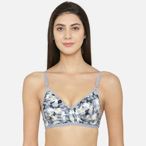 Soft Cotton Printed Non Wired Bra For Women's