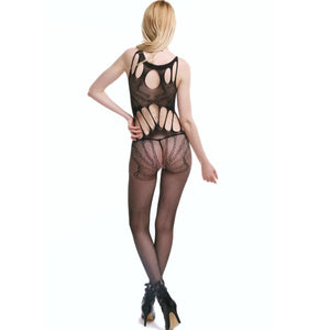 Teddy Crotchless Fishnet Body stocking Babydoll Lingerie