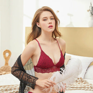 Lace Padded Top For Woman Sexy Wireless Bra