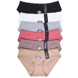 Packs of Front Ribbon Cotton Panty for Women