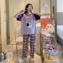 Load image into Gallery viewer, Summer Cartoon Print Cotton Pajama Set