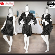 Load image into Gallery viewer, nightwear , sleepwear, cotton nightwear , cotton sleepwear , comfortable nightwear , comfortable sleepwear , girls nightwear , girls sleepwear , women nightwear , women sleepwear , 3 pieces sleepwear , bridal sleepwear , ladies nightdress , nightdress , women nightdress girls nightdres