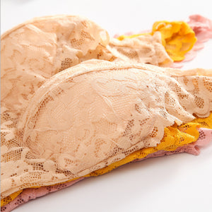 Floral Lace Long Non Wired Bra
