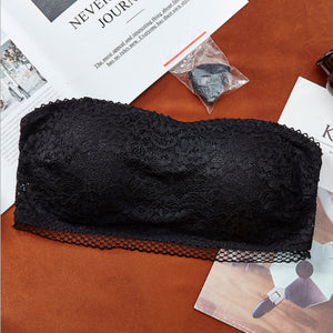 Floral Lace Non Wired Detachable Pads Bra