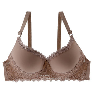 Women Lacy Cups Underwired Padded Bra