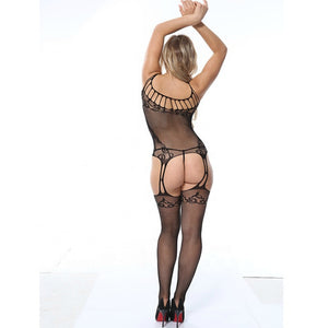 Women's Erotic Transparent Open Back Body Stocking