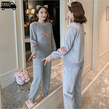 Load image into Gallery viewer, Winter's Fleece Warm Pajamas Sets For Girls