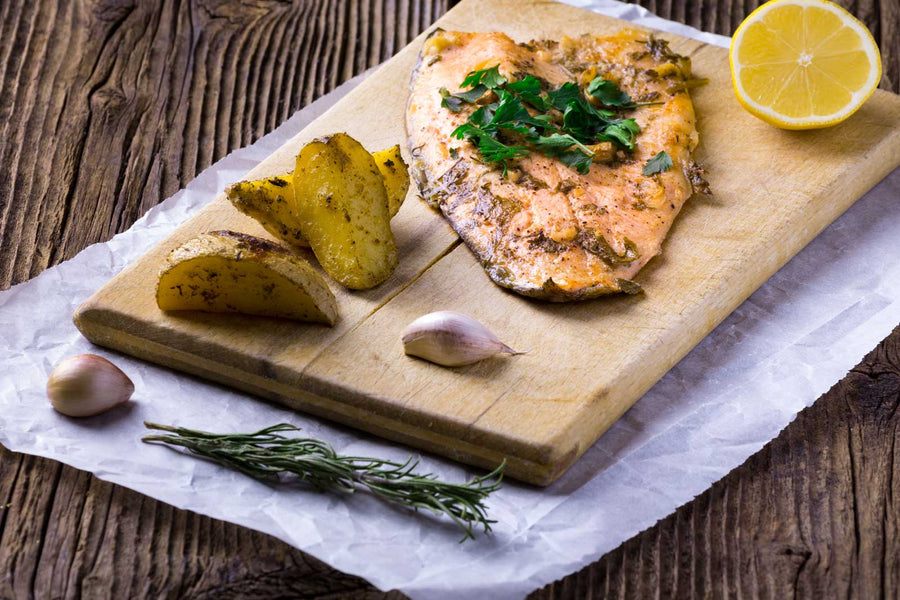 Broiled and Baked Steelhead Trout Fillets